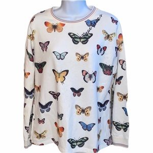 Pepe Jeans Butterfly Long Sleeve Crewneck Top